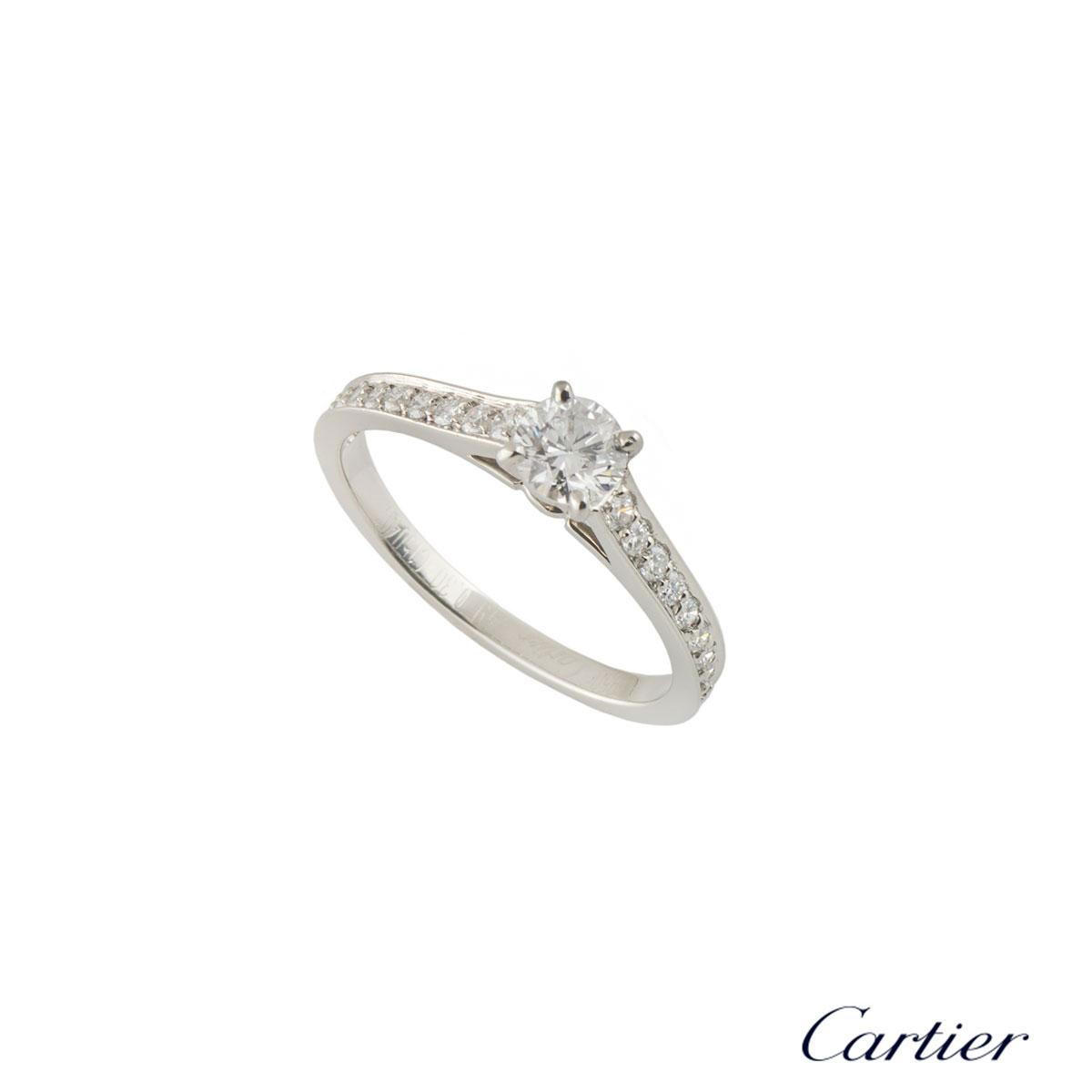 CartierPlatinum Diamond 1895 Solitaire Ring Size 49N4164649